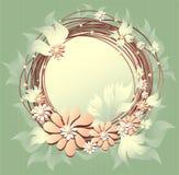 Floral πλαίσιο Scrapbooking με τα μαργαριτάρια λουλουδιών Στοκ Εικόνες