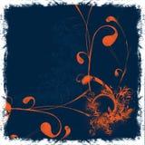 floral πορτοκάλι ανασκόπησης Στοκ Εικόνες