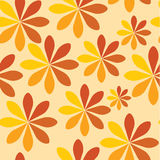 floral πορτοκάλι ανασκόπησης Στοκ Εικόνα