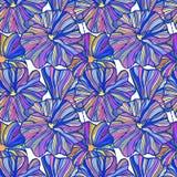 Floral πολύχρωμη άνευ ραφής σύνθεση ρύθμισης σε ένα άσπρο υπόβαθρο Στοκ Εικόνες