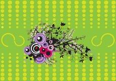 floral πράσινα Διανυσματική απεικόνιση