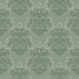 floral πράσινη άνευ ραφής ταπετσ&a απεικόνιση αποθεμάτων