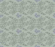 floral πράσινη πορφυρή ταπετσαρί& απεικόνιση αποθεμάτων