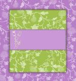 floral πράσινος ιώδης τρύγος Στοκ εικόνα με δικαίωμα ελεύθερης χρήσης