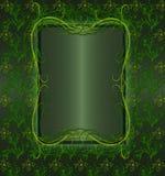 floral πράσινος τρύγος Στοκ Εικόνες