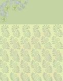 Floral πράσινο και μπλε υπόβαθρο σχεδίων Στοκ Φωτογραφία