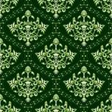 floral πράσινο πρότυπο άνευ ραφή&sigma Στοκ Εικόνες