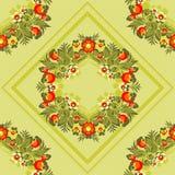 floral πράσινο πρότυπο Στοκ εικόνα με δικαίωμα ελεύθερης χρήσης