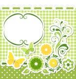 Floral πράσινο σύνολο λευκώματος αποκομμάτων ελεύθερη απεικόνιση δικαιώματος