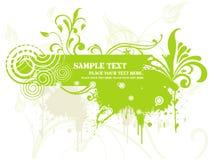 floral πράσινο grunge εμβλημάτων ελεύθερη απεικόνιση δικαιώματος