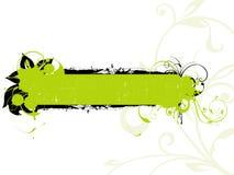 floral πράσινο grunge εμβλημάτων απεικόνιση αποθεμάτων