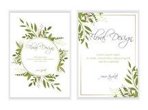 Floral προσκαλέστε το σχέδιο καρτών 10 eps διανυσματική απεικόνιση