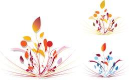 floral πρόσκληση καρτών Απεικόνιση αποθεμάτων