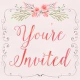 Floral πρόσκληση ελεύθερη απεικόνιση δικαιώματος
