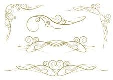 floral πρότυπα που τίθενται Στοκ Φωτογραφίες