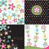 floral πρότυπα χαιρετισμού καρ&ta Στοκ Εικόνες