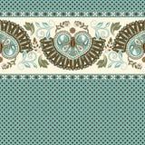 floral πρότυπο άνευ ραφής Εθνική διακόσμηση συνόρων Αιγυπτιακό, ελληνικό, ρωμαϊκό ύφος Στοκ εικόνες με δικαίωμα ελεύθερης χρήσης