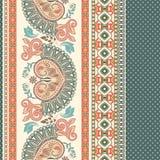 floral πρότυπο άνευ ραφής Εθνική διακόσμηση συνόρων Αιγυπτιακό, ελληνικό, ρωμαϊκό ύφος απεικόνιση αποθεμάτων