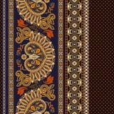 floral πρότυπο άνευ ραφής Εθνική διακόσμηση συνόρων Αιγυπτιακό, ελληνικό, ρωμαϊκό ύφος Στοκ Εικόνες