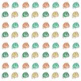floral πρότυπο άνευ ραφής επίσης corel σύρετε το διάνυσμα απεικόνισης Στοκ εικόνα με δικαίωμα ελεύθερης χρήσης