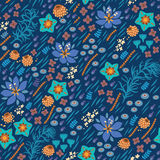 floral πρότυπο άνευ ραφής Η φωτεινή απεικόνιση, μπορεί Στοκ φωτογραφία με δικαίωμα ελεύθερης χρήσης
