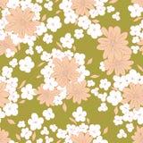 floral πρότυπο άνευ ραφής διακοσμητική floral απεικόνιση δύο λουλουδιών καρτών ανθοδεσμών ανασκόπησης διάνυσμα Στοκ εικόνα με δικαίωμα ελεύθερης χρήσης