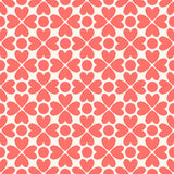 floral πρότυπο άνευ ραφής Κόκκινος και άσπρος shabby Στοκ εικόνα με δικαίωμα ελεύθερης χρήσης