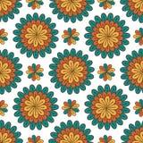 floral πρότυπο άνευ ραφής Σύγχρονο διανυσματικό υπόβαθρο με τα λουλούδια Υφαντικό σχέδιο τυπωμένων υλών ή συσκευασίας Στοκ Φωτογραφίες