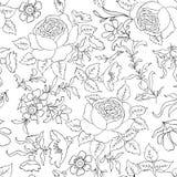 floral πρότυπο άνευ ραφής Υπόβαθρο περιλήψεων λουλουδιών Στοκ Φωτογραφίες