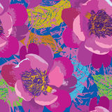 floral πρότυπο άνευ ραφής φως λουλουδιών ανασκόπησης playnig Floral άνευ ραφής κείμενο Στοκ φωτογραφία με δικαίωμα ελεύθερης χρήσης