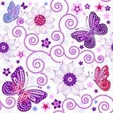 floral πρότυπο άνευ ραφής Στοκ Φωτογραφίες
