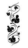 floral πρότυπο αναδρομικό Στοκ Φωτογραφίες