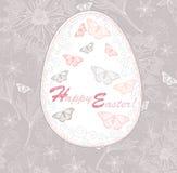 floral πρότυπο αυγών Πάσχας καρτών ελεύθερη απεικόνιση δικαιώματος
