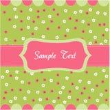 floral πρότυπο καρτών μωρών άνευ ρ&alp Στοκ Φωτογραφίες