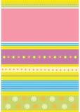 floral πρότυπο καρτών Στοκ Εικόνες