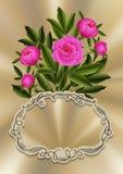 Floral πρότυπο καρτών Στοκ Εικόνα