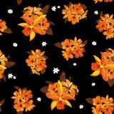floral πρότυπο καρδιών λουλουδιών απελευθέρωσης πεταλούδων κίτρινο Στοκ Εικόνα
