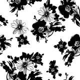 floral πρότυπο καρδιών λουλουδιών απελευθέρωσης πεταλούδων κίτρινο Διανυσματική απεικόνιση