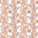 floral πρότυπο καρδιών λουλουδιών απελευθέρωσης πεταλούδων κίτρινο Στοκ Φωτογραφία