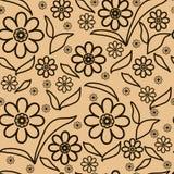 floral πρότυπο καρδιών λουλουδιών απελευθέρωσης πεταλούδων κίτρινο Στοκ φωτογραφίες με δικαίωμα ελεύθερης χρήσης