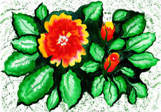 floral πρότυπο καρδιών λουλουδιών απελευθέρωσης πεταλούδων κίτρινο watercolor Στοκ Εικόνες