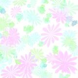 floral πρότυπο κρητιδογραφιών &epsi Στοκ εικόνα με δικαίωμα ελεύθερης χρήσης