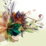 Floral πρότυπο με ζωηρόχρωμος floral Στοκ φωτογραφία με δικαίωμα ελεύθερης χρήσης
