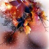 Floral πρότυπο με ζωηρόχρωμος floral Στοκ Εικόνες