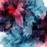 Floral πρότυπο με τη ζωηρόχρωμη psychedelic διακόσμηση Στοκ εικόνες με δικαίωμα ελεύθερης χρήσης