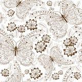 floral πρότυπο που επαναλαμβάνει τον τρύγο Στοκ Φωτογραφίες