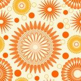 floral πρότυπο που επαναλαμβάν& Στοκ Εικόνες