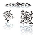 floral πρότυπο στοιχείων σχεδί&o Στοκ φωτογραφία με δικαίωμα ελεύθερης χρήσης