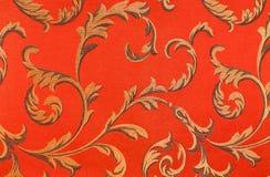 Floral πρότυπο στο ύφασμα Στοκ εικόνα με δικαίωμα ελεύθερης χρήσης