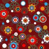 floral πρότυπο τέχνης Στοκ Φωτογραφίες